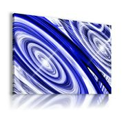 Abstract Blue Circles Spiral Therapy Canvas Wall Art Ab582 No Frame-rolled