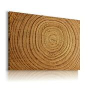 Abstract Wooden Circles Pattern Canvas Wall Art Picture Ws22 Unframed-rolled