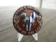 Disneyland Security City Of Bay Lake Punisher Mickey Serialized Challenge Coin