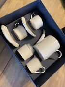 Halcyon Days Fine Bone China Ivory Tea Set For Two Teapot Cups Sugar And Creamer