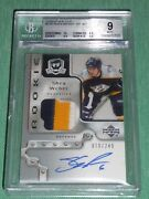 2006-07 The Cup Shea Weber Auto 3clr Rookie Patch /249 Rc Bgs 9 Mint High Subs