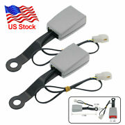 2x Safety Car Front Seat Belt Buckle Socket Plug Connector With 7 Warning Cable