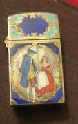 Rare Vintage Zippo Lighter Antique Silver And Enamel 1775 Cries Of London Scene