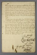 1703   Order Docking Troopsand039 Pay Signed By 7 Army Leaders War Spanish Succession