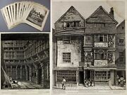 1810 John Thomas Smith 13 Rare Etchings Old London Before Demolished First State