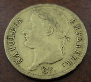 France 1814 A Gold 20 Francs Xf Napoleon I Better Date