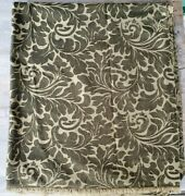 Vintage Chenille Upholstery Fabric - Tonal Greens Brocade - 2 Yards