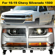 For 2016-2019 Chevy Silverado 1500 Led Aftermarket Headlights Projector Headlamp