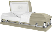 Titan Casket Orion Panel Collection Almond Father Handcrafted Funeral Casket