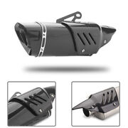 Motorcycle Atv Scooter Exhaust Pipe Carbon Fiber Cover Protector Heat Shield
