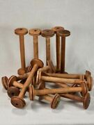 Collection Of 15 Antique French Bobbins 15 11andfrac34