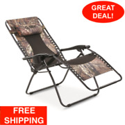Oversized Zero-gravity Chair 500-lb. Capacity Camping Fishing Sports Events