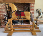 And039rosannaand039 Solid Hardwood Rocking Horse - Free Delivery