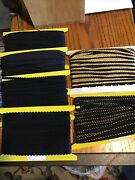 Almost 200 Yds Craft Sewing Needlework Cord Trim Mix Lot Black And Gold 6 Styles