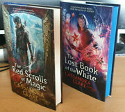 Cassandra Clare Red Scrolls Of Magic/lost Book Of White Signed/specials Sampler