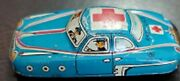 Vintage 1950's Japanese Tinplate Lithographed Toy Ambulance Friction Car