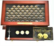 Presidentsand039 And Sacagawea 1 Bronze Proof Coins In Display Case 60 Unc Coins