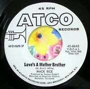 Sir Mack Rice Love's A Mother Brother 1969 Funky Funk Near Mint Promo Gt563
