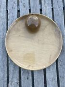 Myrtlewood Toothpick Holder Cheese Plate Tray Wooden Vintage Mid Century Modern