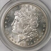 1887-s Morgan 1 Pcgs Certified Ms64 San Francisco Minted Silver Dollar Coin