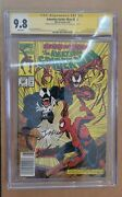 """Amazing Spider-man 362 Cgc 9.8 Ss 2x Signed By Stan Lee And M Bagley """"newsstand"""""""