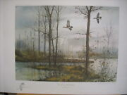 David Hagerbaumer The Narrows Wood Duck Remarque Signed Art Print