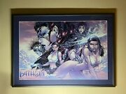 Framed Lithograph Michael Turner's Fathom 12 Tomb Raider Witchblade
