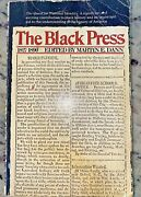 The Black Press1827-1890the Quest For National Identity Dann 1st Edition 1972