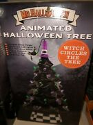 Mr Christmas Halloween Ceramic Tree Animated Musical Lights Black 18andrdquo Led Witch