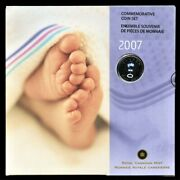 Canada 2007 Commemorative Baby Set Featuring Baby Rattle Quarter Sealed Rare