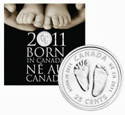 Canada Born In 2011 7-coin Set Featuring Baby Feet Quarter Sealed Rare.