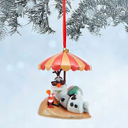 New 2014 Disney Store Frozen Olaf Snowman Sketchbook Christmas Holiday Ornament