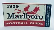 1959 Marlboro Football Guide And Schedule