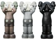 Kaws Holiday Uk Vinyl Figure Set Of 3 Brown/grey/black In Hand Ready To Ship