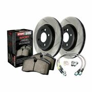 Stoptech Sport Axle Pack Brake Kit Drilled And Slotted 4 Wheel - 978.3308