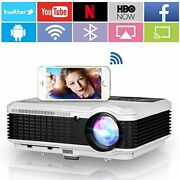 Movie Projector With Wifi Bluetooth 5000 Lumens Smart Wifi Wireless Projector H