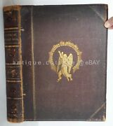 1800s Antique Bible Pictorial Sunday Book Kitto Engravings Holy Land Map Life Ch