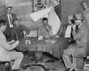 Poker Game Grapette Soda Sign In Background Professional Photo Lab Reprint