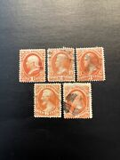 U S Dept Of Interior Official Stamps O15-o19.. Used Ng