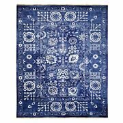 8and039x10and0392wool And Silk Tone On Tone Fine Oriental Hand-knotted Rug R42941
