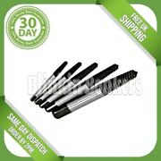 6pc Screw Extractor Set For Broken Damaged Bolt Stud Remover Tapered Tool Case