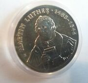 Rare 1983 Ddr East Germany Large Silver 20 Marks-martin Luther