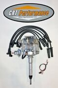 Chevy 194-216-235 I6 / Straight 6 Hei Distributor Clear Cap + Black Plug Wires