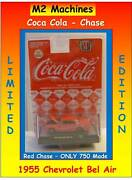 1955 And03955 Chevy Bel Air Red Chase Coca-cola Coke M2 Machines Rare Only 750