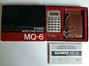 Casio Mq-6 Micro Card Watch Vintage Calculator Complete Great Condition