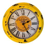Old Town Repairs And Restorations 14.5 Wall Clock Standard Time Est.1863 Clock