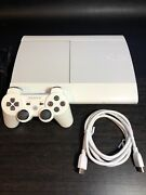 Crystal White Playstation 3 Ps3 Super Slim Console Cech-4001c Limited Edition