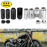 Upper/lower Fork Covers Tube Caps Fit For Harley Softail Breakout Fxbr 2018+