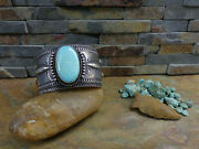 Wow 106g Aaron Toadlena Navajo Turquoise Sterling Cuff Native Old Pawn Harvey