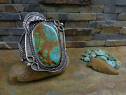 Incredible Huge Navajo Royston Gem Turquoise Cuff Sterling Fred Harvey Old Pawn